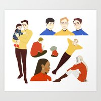 The Enterprise Crew Art Print