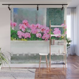 Geraniums - Another View Wall Mural