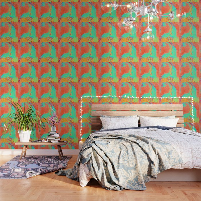 Marble Pattern Neon Green And Orange Marble Bright Colors Wallpaper By Dbbart
