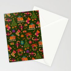 christmas x stitch pattern for the holiday mood Stationery Cards