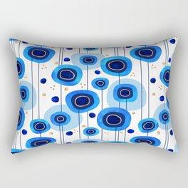 Floral Blues Pattern Rectangular Pillow