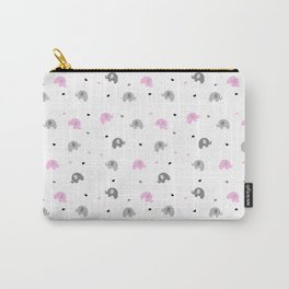 Baby Pink Elephants Carry-All Pouch