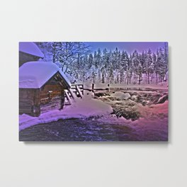 Water mill in Oulanka National Park Metal Print