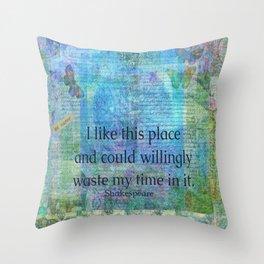 Shakespeare humorous quote Throw Pillow