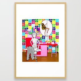 Barbie Dreams Of A More Colourful Life! Framed Art Print