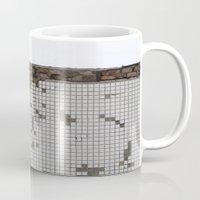 tetris Mugs featuring tetris by Jan Luzar