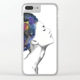 Galaxy Girl Clear iPhone Case
