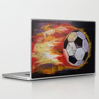 soccer Laptop & iPad Skins featuring Soccer by Michael Creese