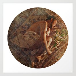 The letter to Psyche was written in the green leaves of a cloud. Art Print
