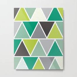 Triangulum - Emerald Metal Print