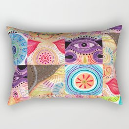 vibrant playful rhythm Rectangular Pillow