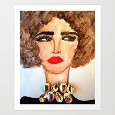Gem Necklace Art Print