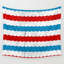 The Sailor - Vintage Nautical Striped Waves RWB Wall Tapestry