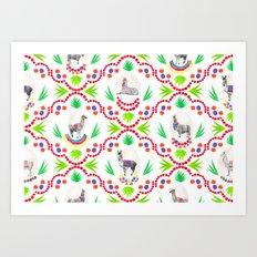 A Llama Folk Tale Art Print