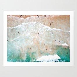 Bondi Beach Shore Art Print