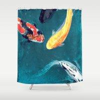 ballet Shower Curtains featuring Water Ballet by Brazen Edwards