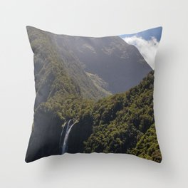 Stirling Falls Milford Sound, NZ Throw Pillow