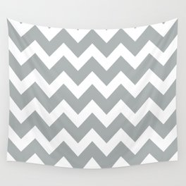Chevron Grey & White Wall Tapestry