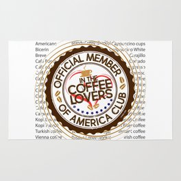 Coffee Lovers of America Club by Jeronimo Rubio 2016 Rug