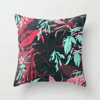 jungle Throw Pillows featuring Jungle by theroyalbubblemaker