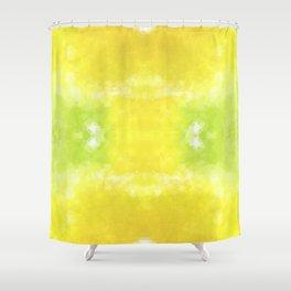 """Lemon jello"" triangles design Shower Curtain"