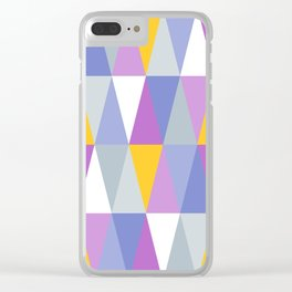 Big Triangles   Yellow, Blue & Purple Clear iPhone Case