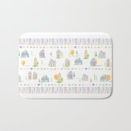Little Houses: Chain of Hearts Bath Mat