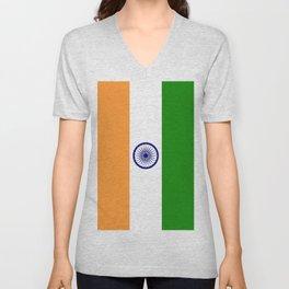 Flag of India-indian,mumbai,delhi,hindi,indus,buddhism,hinduism,buddha,gandhi Unisex V-Neck