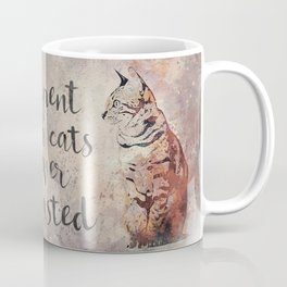 Time spent with cats is never wastet Coffee Mug
