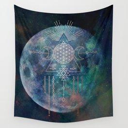 Lunar Goddess Mandala Wall Tapestry