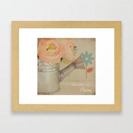 {Dreaming of Spring} Framed Art Print