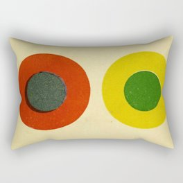Contrast Circles Rectangular Pillow