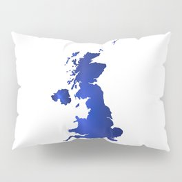 United Kingdom Map silhouette Pillow Sham