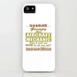 Aircraft Mechanics iPhone Case