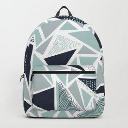Geometric Pattern 02 • Sea Glass Backpack