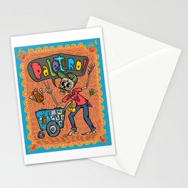 Day of the Dead PALETERO Sings with Angel Popsicles Stationery Cards