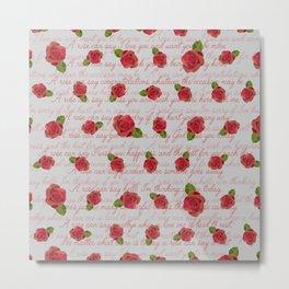 RosesPoem Metal Print