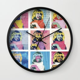 Celia Cruz Pop Art - The Immortal Queen of Salsa - Magical Realism Wall Clock