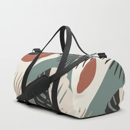 Minimal Yin Yang Monstera Fan Palm Finesse #1 #tropical #decor #art #society6 Duffle Bag