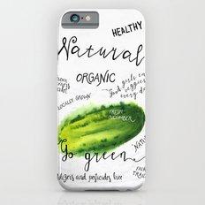 Watercolor cucumber Slim Case iPhone 6s