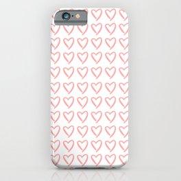 Cute hearts pattern iPhone Case