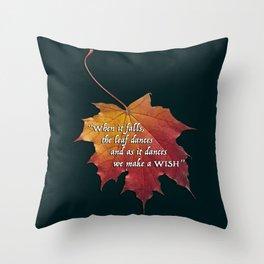 Autumn leaf - To make a wish Throw Pillow