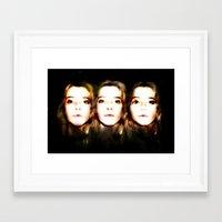 okay Framed Art Prints featuring OKAY by Beka Lerner
