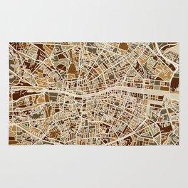 Dublin Ireland City Map Rug
