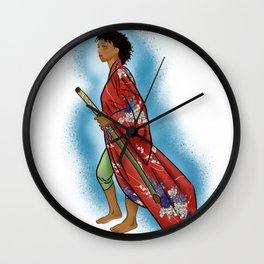 Young Woman Samurai (Onna Bugeisha) Wall Clock