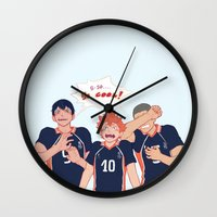 haikyuu Wall Clocks featuring impressed  by viria