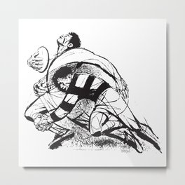 Rugby Tackle by PPereyra Metal Print