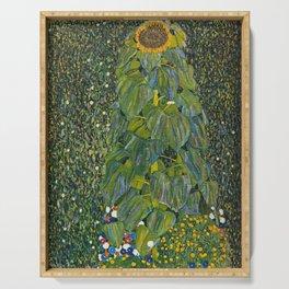 Gustav Klimt - The Sunflower Serving Tray