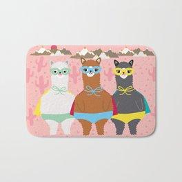 Alpaca Superheroes I Bath Mat