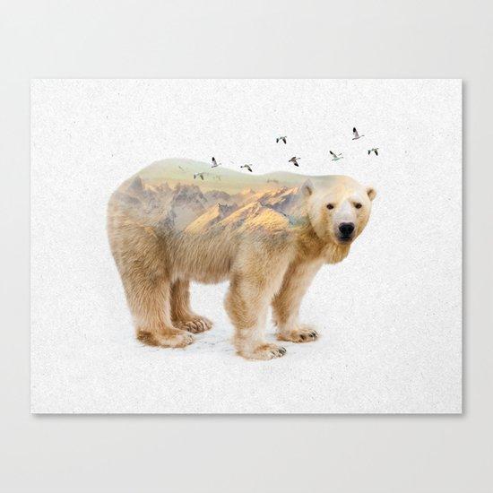 Wild I Shall Stay   Polar Bear Canvas Print